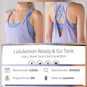 Lululemon Ready & Go Tank Excellent Used Condition